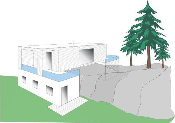 Vi ønsker å direkte adkomst til fjellryggen fra terrassen.
