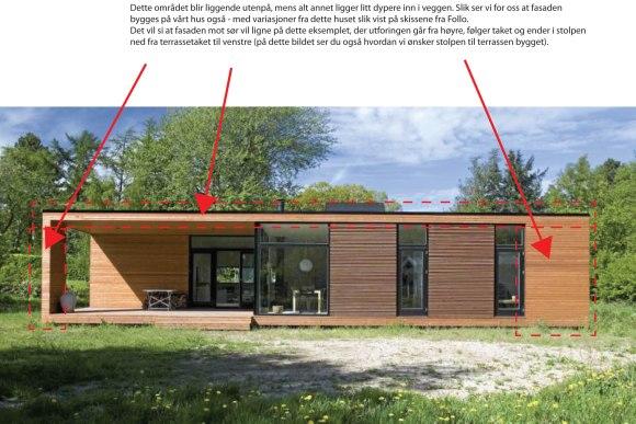 Det danske hus (ferdighus) har gitt oss noen av ideene på de utvendige detaljene.