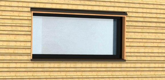 Detail av et av vinduene.