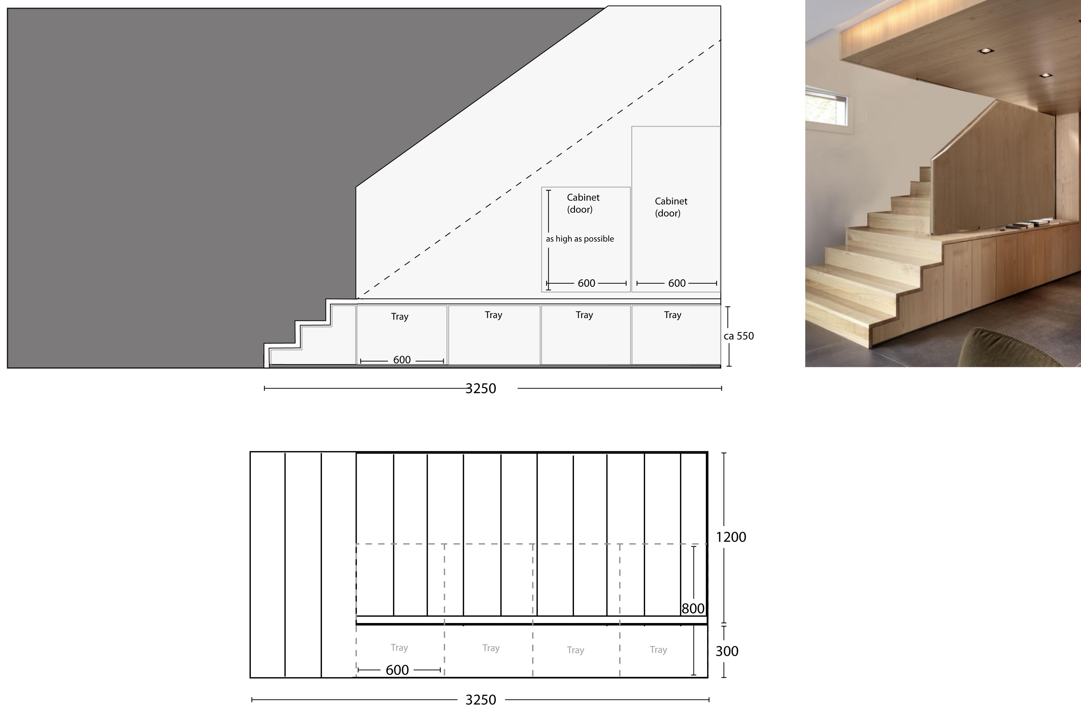 Kjøkken under trapp – astric