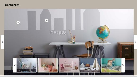 Planen min er at den gra veggen på Matheo sitt rom skal fortsette over i den hvite  veggen som et grafisk bilde av en drabantby.