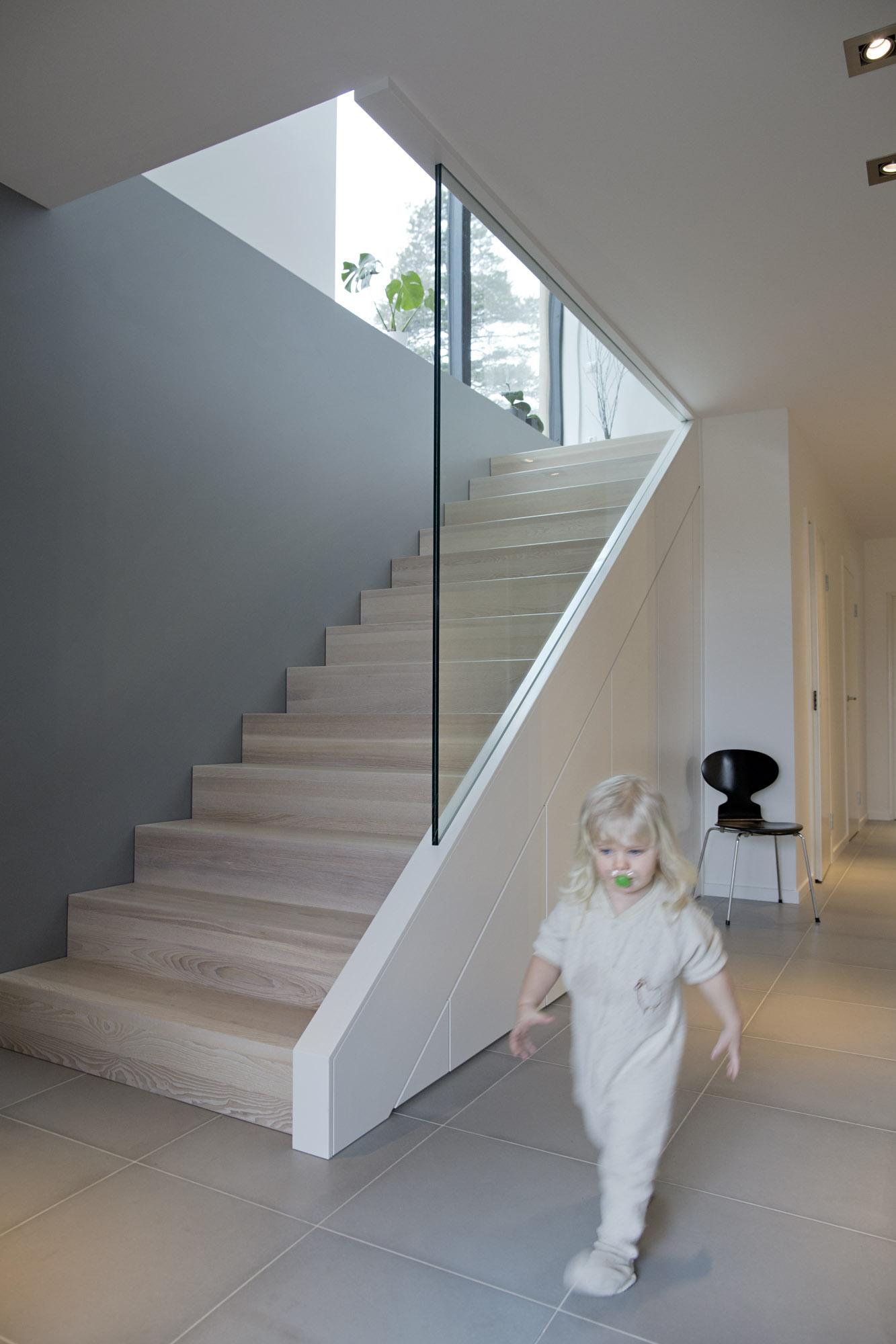 Trapp lerkefunkis for Claustra interieur en verre