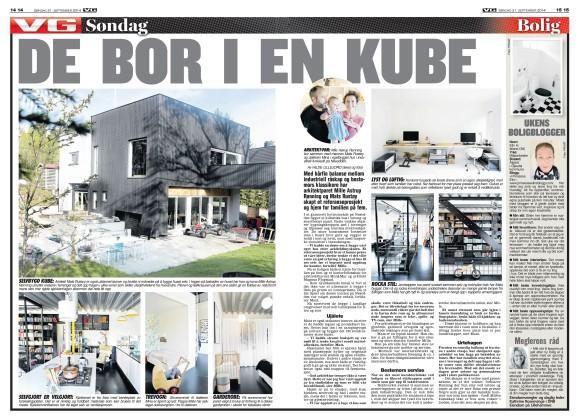 Min første VG-artikkel handler om det spennende arkitektparet Milla og Mats på Nesodden.