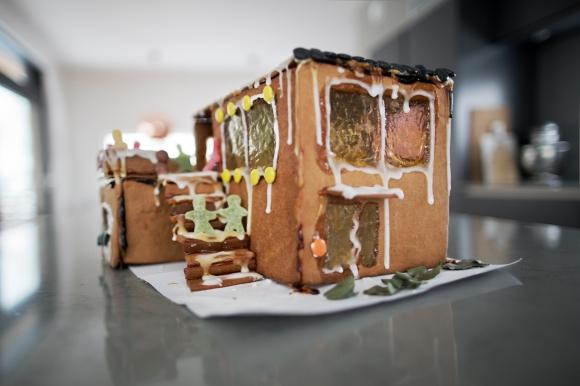 Klarte ikke å dy meg: jeg måtte lage et pepperkakehus av huset!
